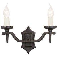 Elstead RY2B BLACK Rectory twin black  wrought iron wall light