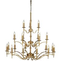 Interiors 1900 CA1P21B Stanford Brass 21 Light Ceiling Pendant Light In Brass   Fitting Only