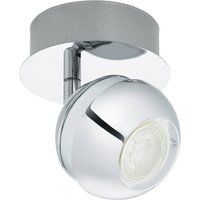 Eglo 95477 Nocito 1 One Light Wall Spotlight In Chrome And White