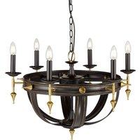 Elstead REGAL6 Regal 6 Light Chandelier Light In Oil Rubbed Bronze/Gold