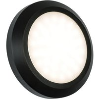 Saxby 61220 Severus Round Outdoor Guide Wall Light in Black