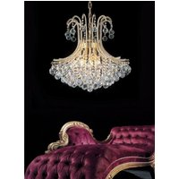 Diyas IL30217  Bask Crystal Ceiling Pendant in Gold Finish