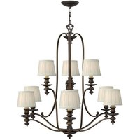 HK/DUNHILL9 Dunhill 9 Light Royal Bronze Chandelier with Shades