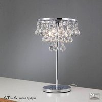 IL30028 Atla Polished Chrome And Crystal Table Lamp