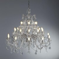 Searchlight 3314 30 Marie Therese 30 Light Ceiling Chandelier In Chrome