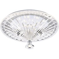 Dar VIN522 Vincent Crystal Glass Ceiling Flush Light
