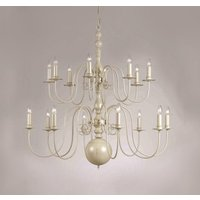 PG05579/16/GREY Bologna 16 Light Cream Chandelier