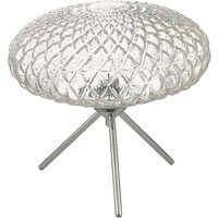 Dar BIB4308 Bibiana 1 Light Table Lamp In Polished Chrome With Clear Glass   Height  270mm