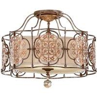 FE MARCELLA SF Marcella 3 Light S Flush Bronze Ceiling Light