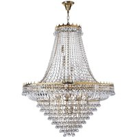 Searchlight 9112-102GO Versailles 19 Light Crystal Chandelier Gold Finish