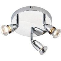 Saxby 43279 Amalfi Triple Ceiling Spotlight in Polished Chrome Finish