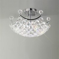 IL30035 Cesto 4 Light Semi Flush Crystal Ceiling Lamp