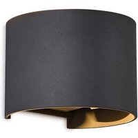 Mantra M6522 Davos Curved LED Wall Light In Anthracite   Width  140mm