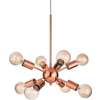 Firstlight 3710CP Alfa 8 Light Ceiling Pendant Light In Copper