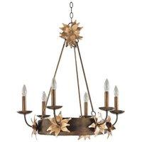 FB SIMONE6 6 Light Bronze and Gold Ceiling Pendant