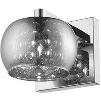 Impex CFH606091 01 WB CH Deni One Light Wall Light In Chrome