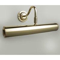 Sloane Adjustable Swan Neck Picture Light In Polished Brass   360mm