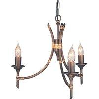 Elstead BB3 Bamboo bronze 3 light chandelier