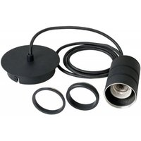 965255 Cord Set For Ceiling Pendant In Industrial Black With E27 Base Cap