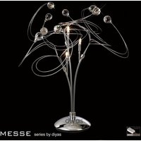 IL30174 Messe 3 Chrome And Crystal Table Lamp