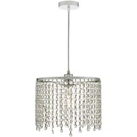 Dar YIA6508 Yiannis Easy Fit Ceiling Pendant In Polished Chrome And Crystal