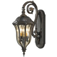 FE BATONRG M Outdoor 3 Light Die Cast Aluminium Wall Lantern