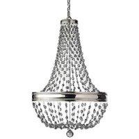 Elstead FE/MALIA8 Malia 8 Light Ceiling Chandelier Light In Polished Nickel