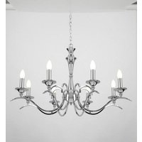 Endon KORA 8CH Traditional 8 Light Chandelier With Chrome Finish