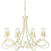 Elstead OV8 IVORY GOLD Olivia 8 Light Chandelier Light In Ivory Gold   Fitting Only