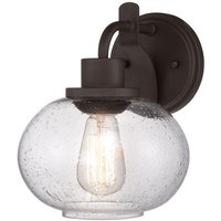 QZ TRILOGY1 Trilogy 1 Light Old Bronze Wall Light with Glass Shade