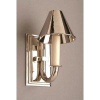 Eton N726 Solid Brass Nickel Plated 1 Light Wall Light