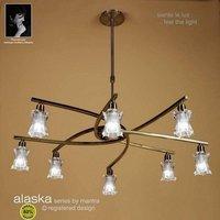 M8605AB Alaska Low Energy 8 Light Antique Brass Pendant
