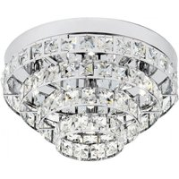 Endon MOTOWN 4CH 4 Light Flush Ceiling Light With Glass Beads