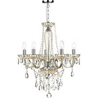 Dar RAP0506 Raphael 5 Light Chandelier With Champagne Glass With Beads