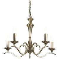 Endon KORA 5AB 5 Light Chandelier With Antique Brass Finish