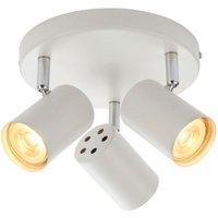 Saxby 73685 Arezzo Three  Light Plate Ceiling Spotlight In White