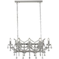 Searchlight 8068-8CC Florence 8 Light Ceiling Chandelier In Chrome