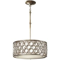 FE LUCIA B Lucia 3 Light Burnished Silver Ceiling Pendant