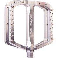 ausrüstung/Pedale: Burgtec  Penthouse Flat Pedale MK5 Stahlachse Silver