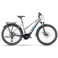 E-Bikes: Raymon Raymon TourRay E 7.0 Grey  Black  Space Matt Lady 2021