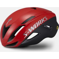 Bekleidung/Helme: Specialized  S-Works Evade mit ANGi SatinGloss Flo RedChrome M