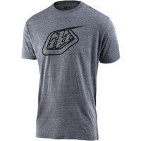 Bekleidung: Troy Lee Designs  Logo Tee Vintage Gray Snow MD