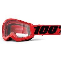 Bekleidung/Brillen: 100percent 100% Strata Youth Gen2 goggle anti fog clear lens  unis