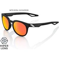 Bekleidung/Brillen: 100percent 100% Campo Sonnenbrille - HD Red Multilayer  Hiper Lense 2018 Matte Crystal Black