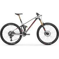 fahrrad: Mondraker  Superfoxy Carbon RR Racing Silver - Carbon - Flame Red 2021