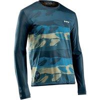 Bekleidung: Northwave  Xtrail Jersey Lo Sl Mtb Man BlueKhaki L