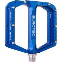 fahrradteile/Pedale: Burgtec  Penthouse Flat Pedale MK5 Stahlachse Blue