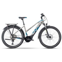 Fahrräder: Raymon Raymon TourRay E 7.0 Grey  Black  Space Matt Lady 2021 XS