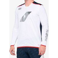 Bekleidung: 100percent 100% R-Core X Limited DH Jersey White  Navy XL
