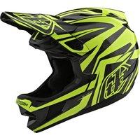 : Troy Lee Designs  D4 Helmet Cf Mips Slash BlackYellow LG